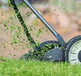 Image of mowing grass