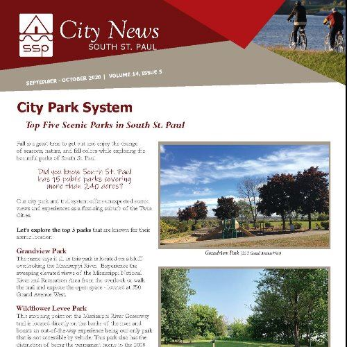 Image of the cover page of the South St. Paul City Newsletter