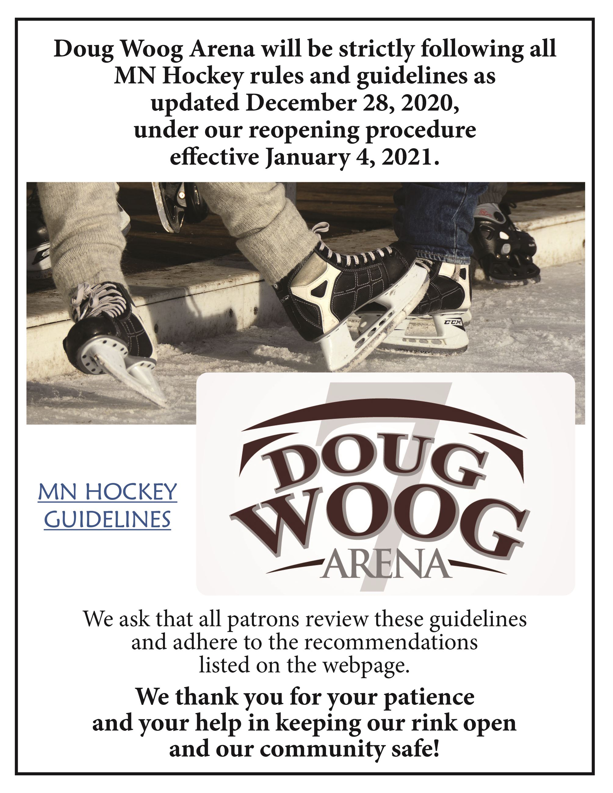 Reopening Guidelines MN Hockey