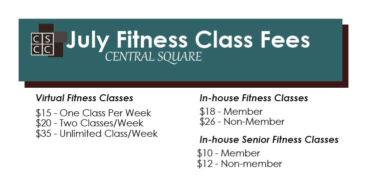 Fitness Class Fees July 2020
